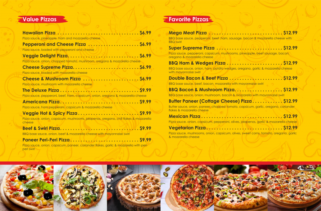 Pizza House_Menu Card for LED Screen_A